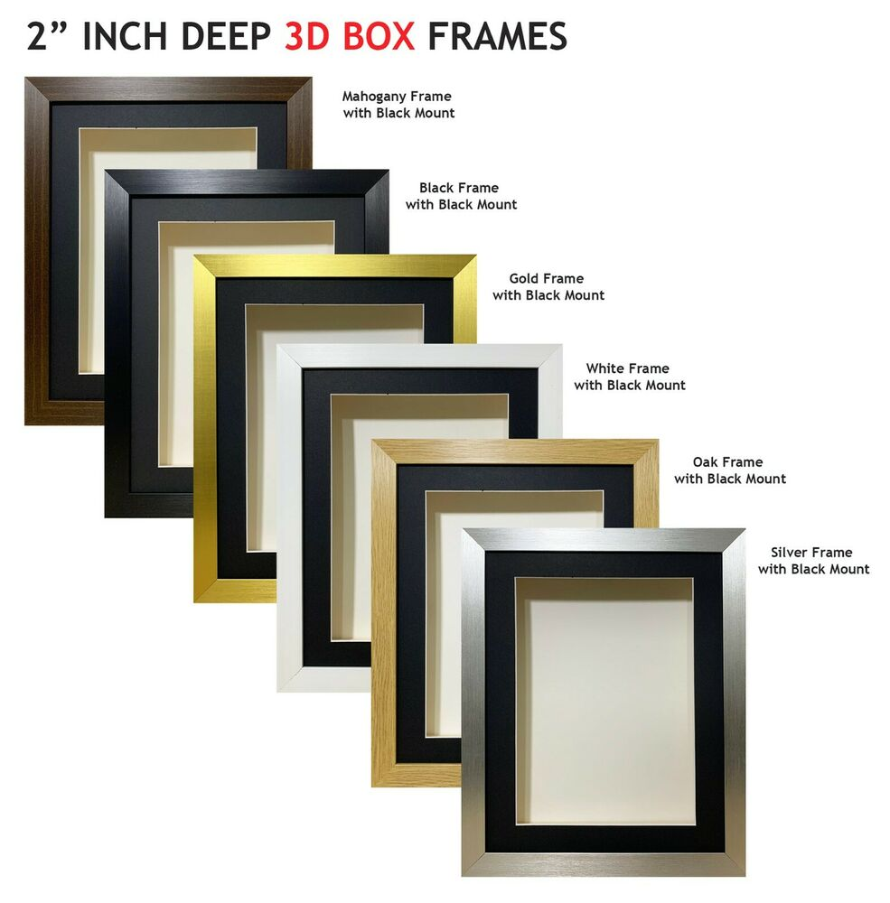 2 inch Deep 3D Shadow Box Picture Photos Keepsake Memorabilia ...