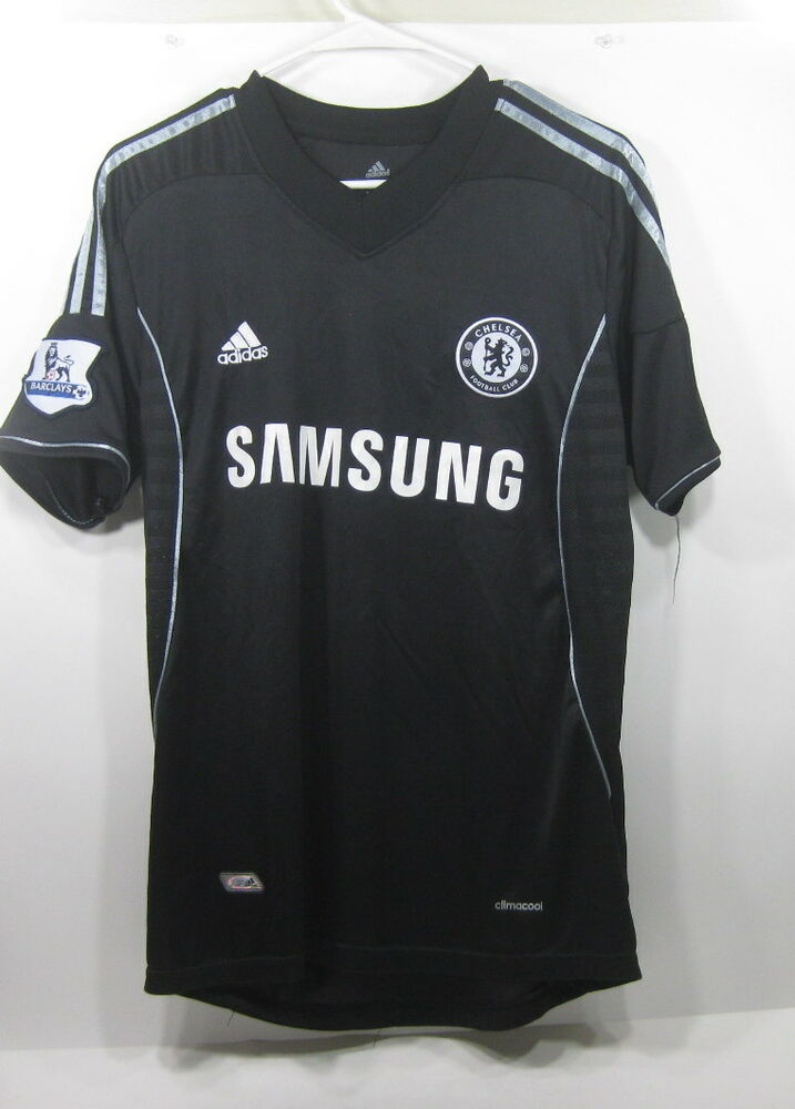 NEW ADIDAS CHELSEA football club samsung black JERSEY size L