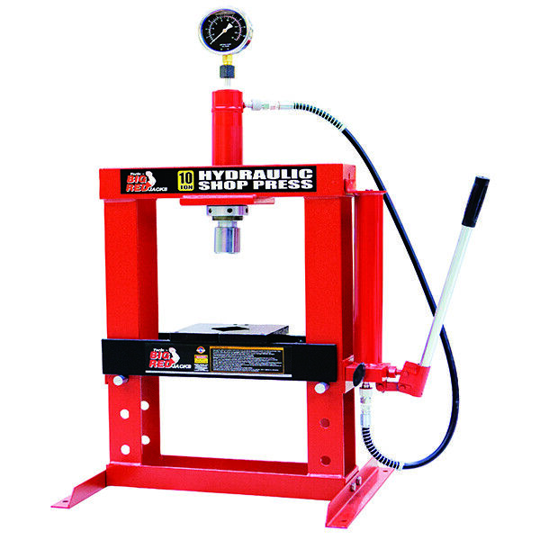Big Red Workshop Garage Hydraulic Press 10 Ton Tonne Bench