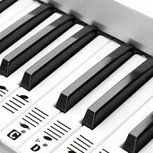 🎹 Removable Piano and Keyboard Stickers for 49 61 76 88 Transparent