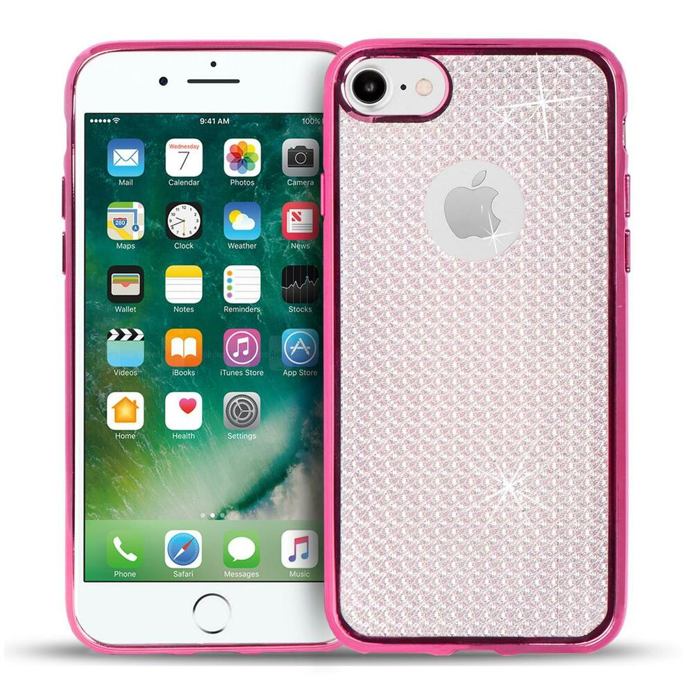 handy h lle apple iphone 7 h lle glitzer silikon case schutz cover tasche 4058455426247 ebay. Black Bedroom Furniture Sets. Home Design Ideas