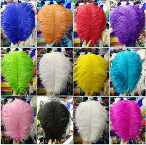 Wholesale 10-100pcs High Quality Natural Ostrich Feathers 6-24inches/15-60cm
