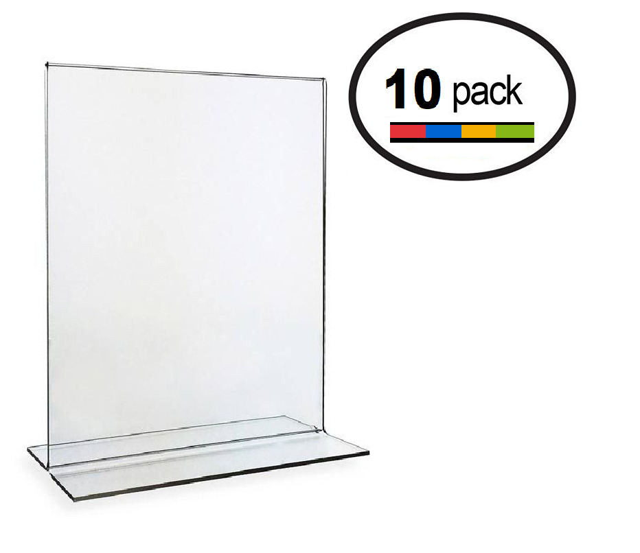 8.5 x 11 Clear Acrylic Bottom Load Plastic Display Sign Holder ...
