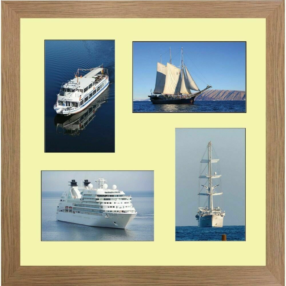 """Large multi picture photo aperture frame 8"""" x 6"""" inches size with 4 ..."""
