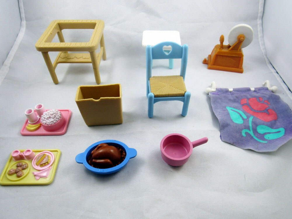fisher price loving family dollhouse furniture accessories doll house t1 ebay. Black Bedroom Furniture Sets. Home Design Ideas