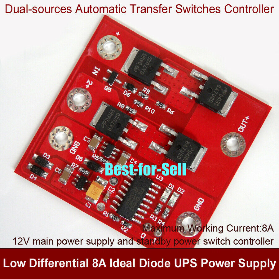 Dc 12v 8a Dual Way Automatic Transfer Ups Power Switch Controller Details About Ats Build Your Diodes Module 699916314181 Ebay