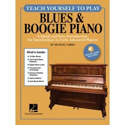 Teach Yourself to Play Blues and Boogie Piano Book with Audio Online 000248990