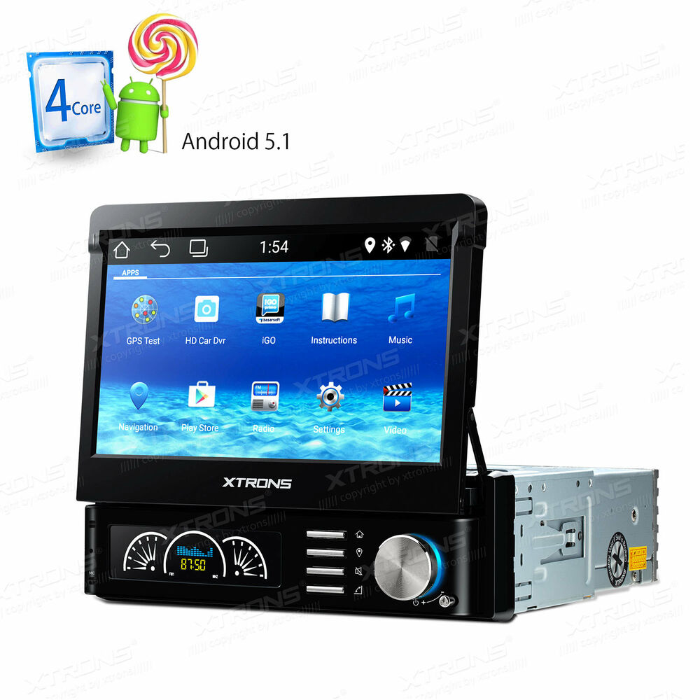 android 5 1 autoradio mit navi gps wifi obd2 bildschirm touchscreen usb sd 1din ebay. Black Bedroom Furniture Sets. Home Design Ideas