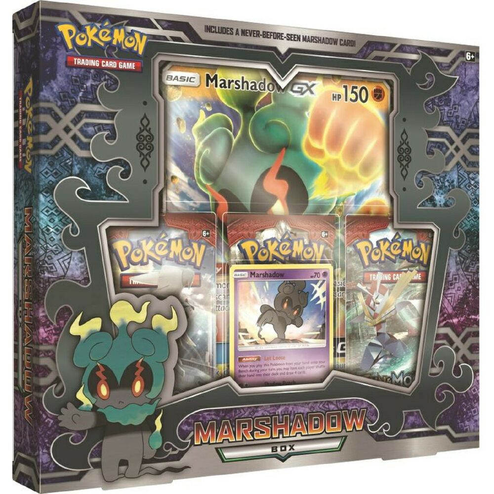 Pokemon Marshadow Collection Box Inc 3 Booster Packs