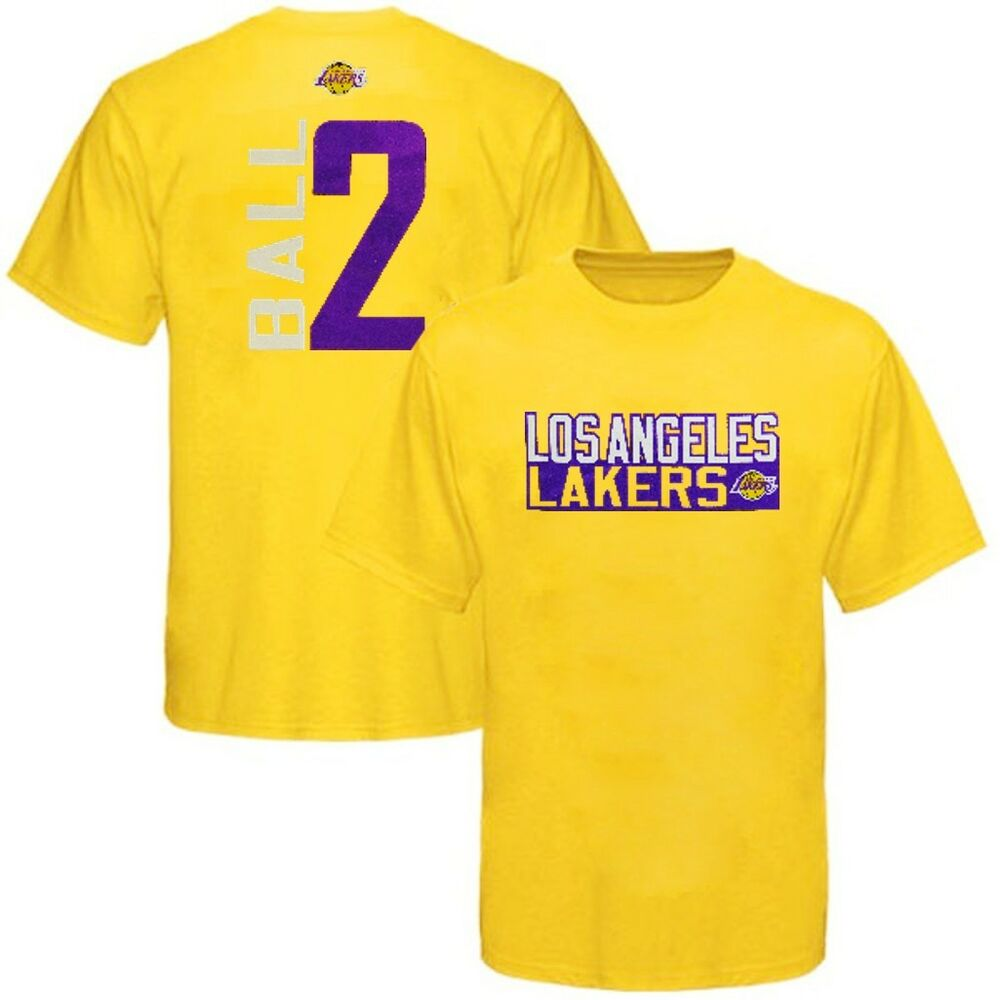 Details about Los Angeles Lakers NBA Boys Lonzo Ball Player Shirt Gold Youth  Sizes 5f4c4b64b