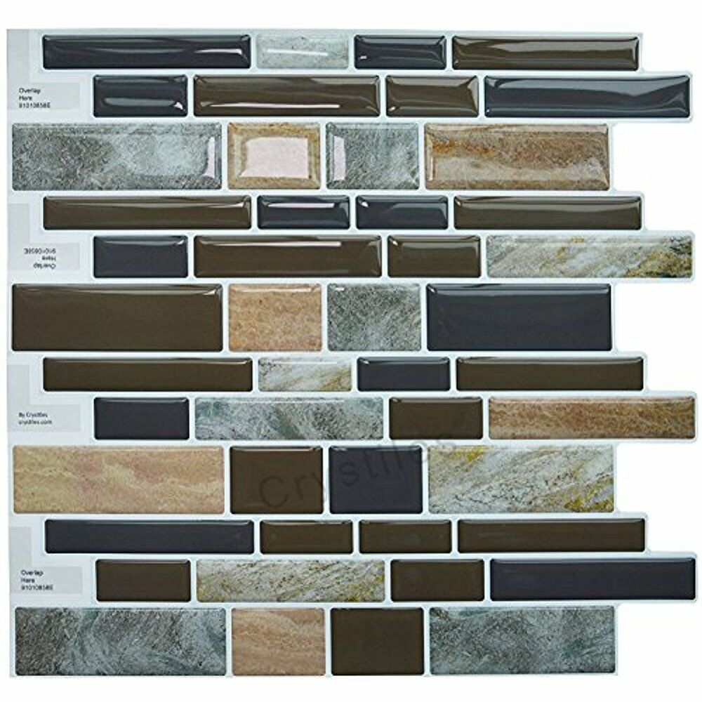 Crystiles Diy Peel Stick Backsplash For Kitchen And: Crystiles Peel Decorative Tiles And Stick Self-Adhesive