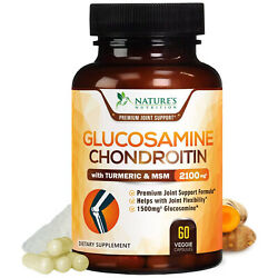 Glucosamine Chondroitin Turmeric MSM Triple Strength Joint Support 2100mg