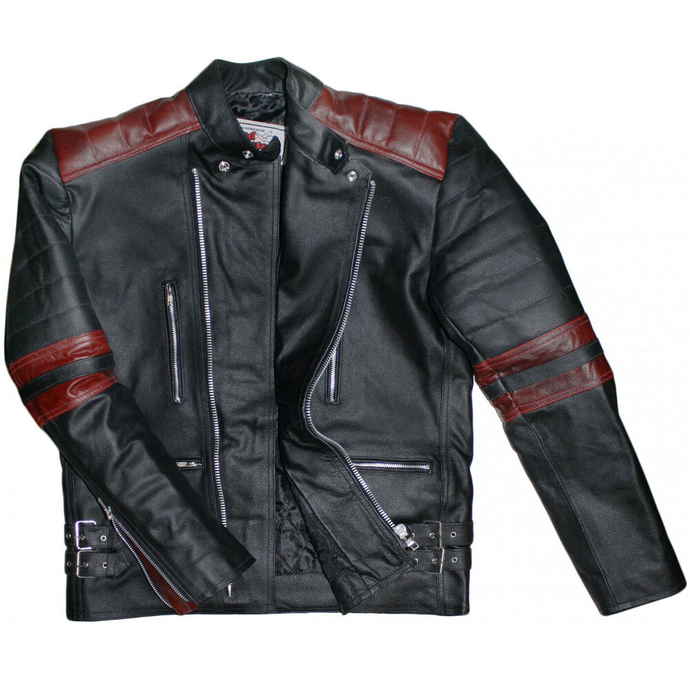 german wear motorradjacke oldschool retro lederjacke. Black Bedroom Furniture Sets. Home Design Ideas