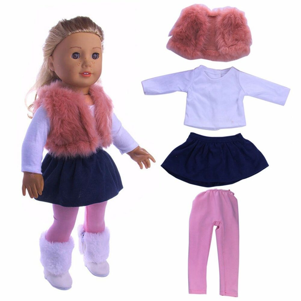 Doll Clothes Dress Outfit Clothes Set For 18'' American ...