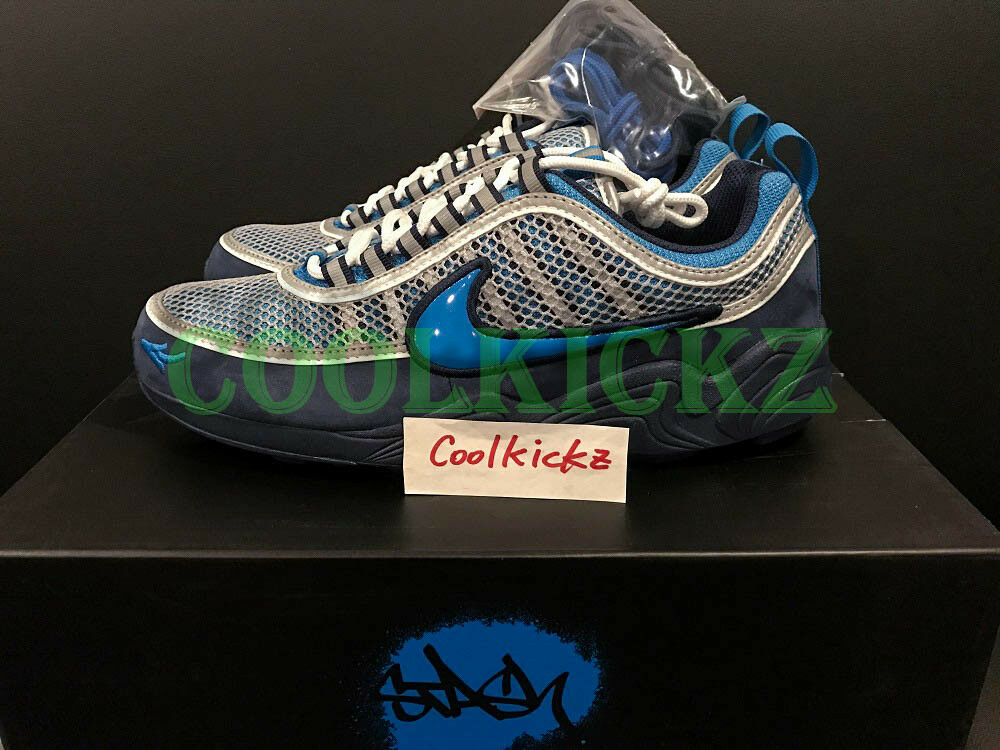 SHIP NOW Stash x Nike Air Zoom Spiridon 16 Blue Heritage Cyan 8-13 AH7973-400