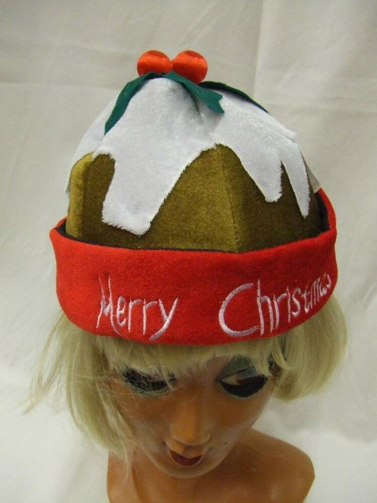 4d3f0d43fe6366 Christmas Pudding Hat Adults one size Festive Plum Figgy Light Brown | eBay