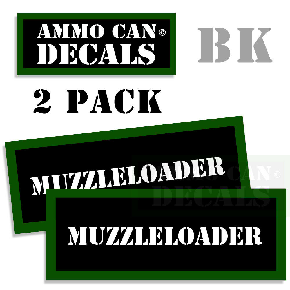 Details about muzzle loader ammo can stickers decals labels ammunition case 3x1 15 inch 2 pack