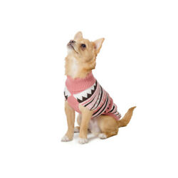 Dog/Cat's Knitted Jumper - 25 cm - Extra Small - Pink