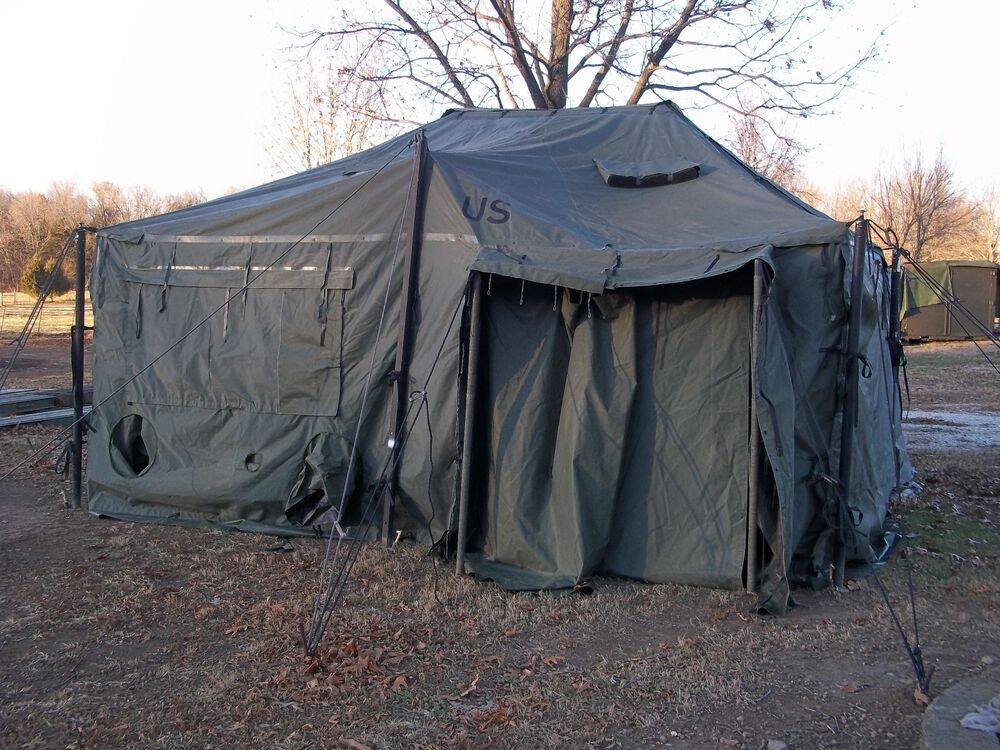 US MILITARY SURPLUS 18x18 MGPTS TENT HUNTING CAMPING ARMY TRUCK ...