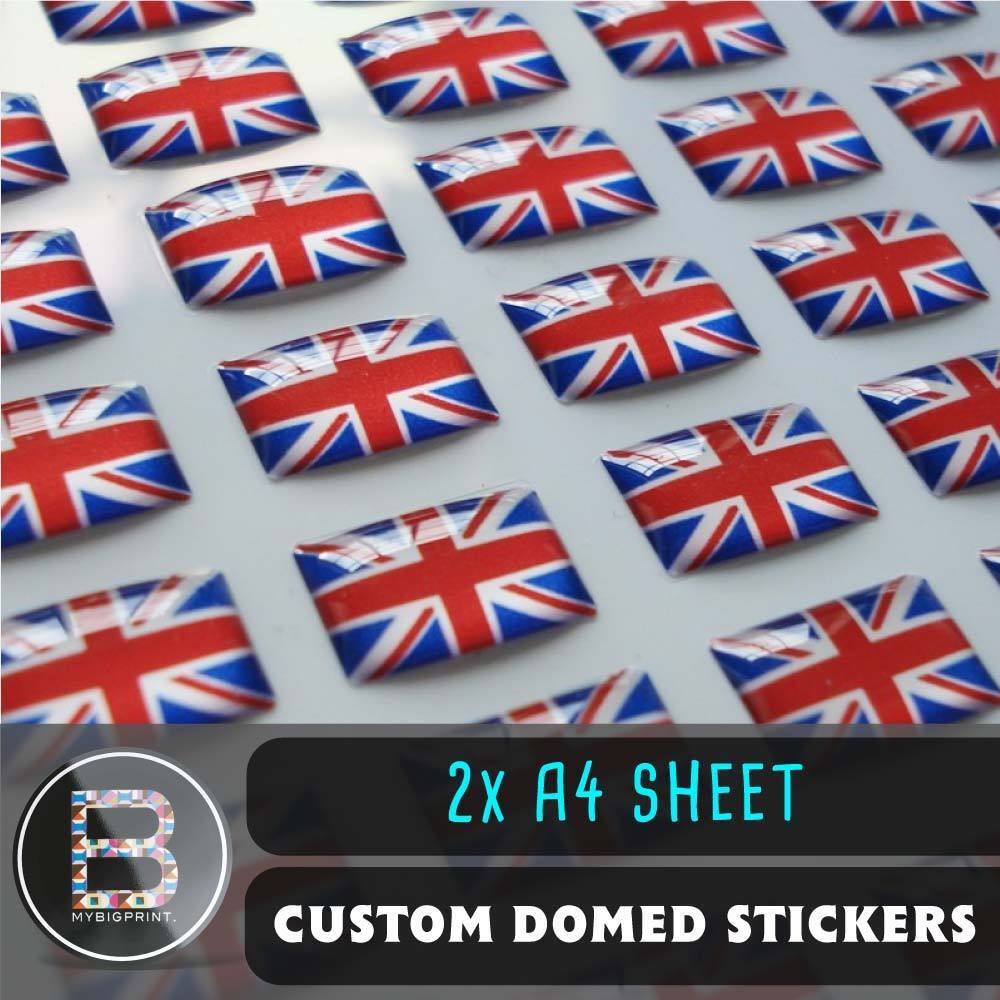 Details about custom domed resin stickers 2 x a4 sheet 3d business company logo labels