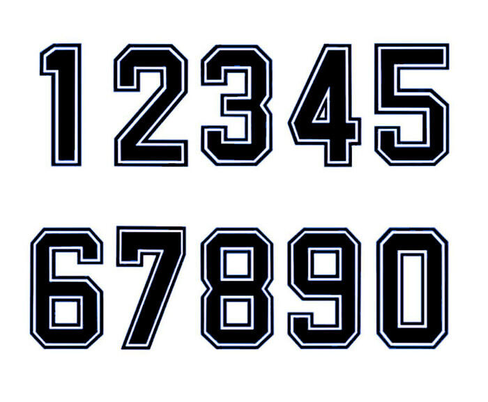 Font used for sports jerseys