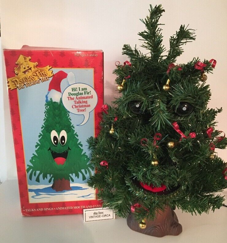 Gemmy Douglas Fir The Talking Tree 1996 Animated Mouth And Eyes Motion  Activated | eBay - Gemmy Douglas Fir The Talking Tree 1996 Animated Mouth And Eyes