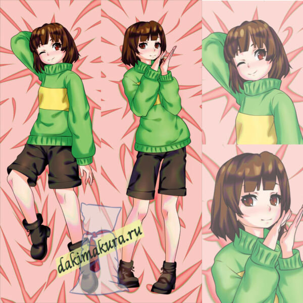 Undertale: Chara Dakimakura 50x150cm 19.6x59 inch, Hugging Body Pillow Case N536