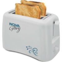 Nova White 800 W Pop Up Toaster