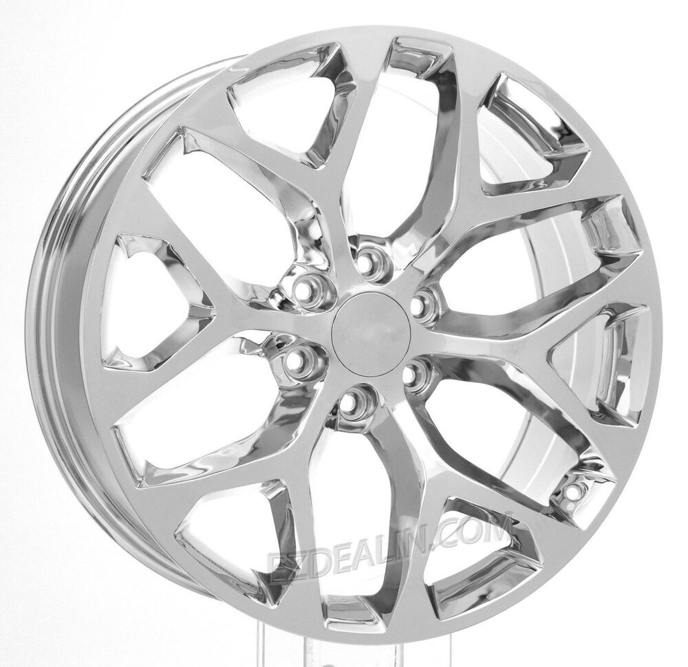 chrome 22 snowflake wheels rims 2000 18 gmc sierra yukon denali Chevy Silverado Hubcap details about chrome 22 snowflake wheels rims 2000 18 gmc sierra yukon denali hollander 5668