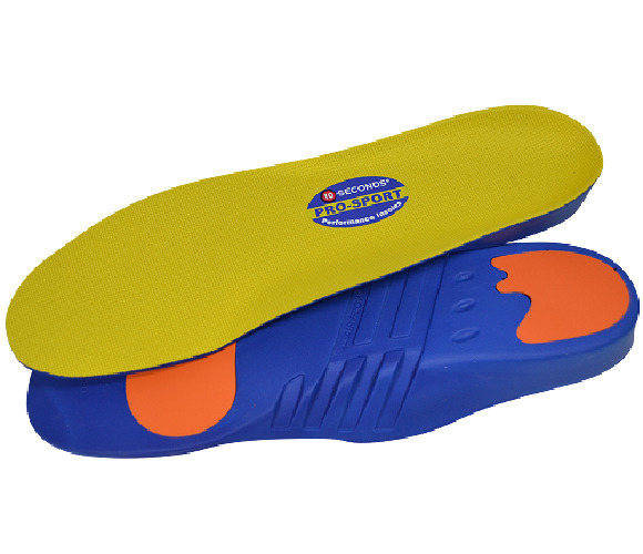 10 Seconds Pro Sport Performance Insoles, Maximum Cushioning Inserts, All Sizes