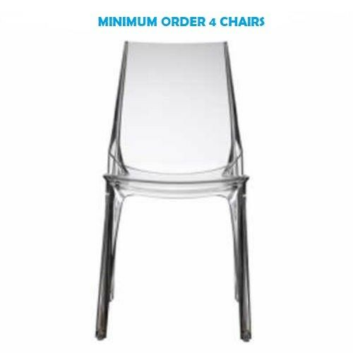 VANITY Contract transparent  stackable chair.SCAB DESIGN Suitable for bar,hotel