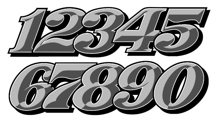 numeros course racing numbers drift jdm moto cross autocollant sticker nu021gr ebay. Black Bedroom Furniture Sets. Home Design Ideas
