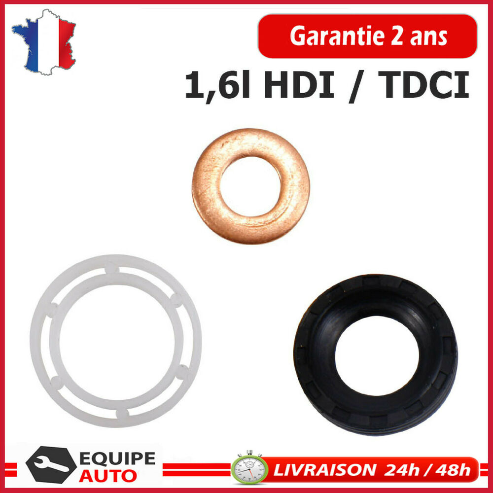 joint d 39 injecteur joint torique 1 6 hdi peugeot citroen ford 1 6 tdci ebay. Black Bedroom Furniture Sets. Home Design Ideas