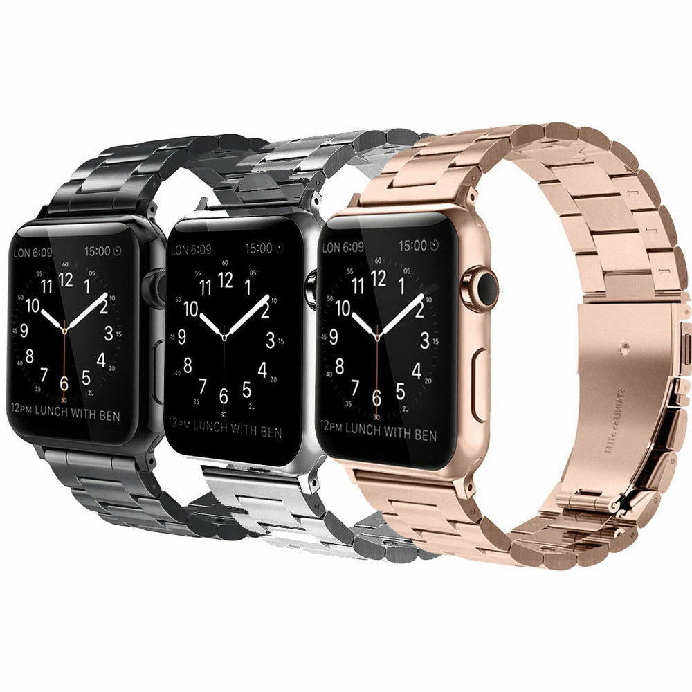 For iWatch Apple Watch Series 4 3 2 1 42mm Stainless Steel