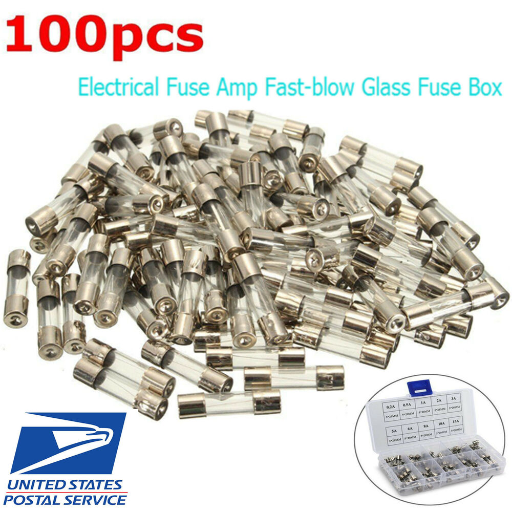 Glass Quick Blow Fast Acting Fuse Automotive Fuses 1a 50a Increasing Amps Box Ratings 12v 24v Ebay