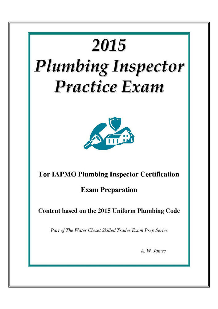 2015 Iapmo Plumbing Inspector Practice Exam On Usb Flash Drive Ebay