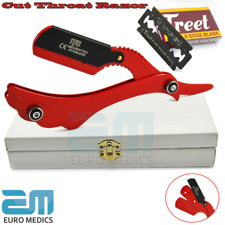 img-Professional Barber Salon Cut Shaving Razors Throat Folding Knife