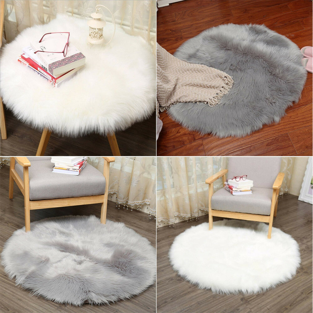 New Soft Rug Chair Cover Artificial Wool Warm Hairy Carpet