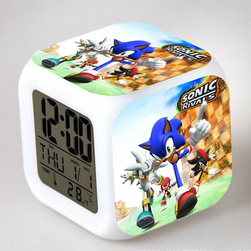 Coloring for Kids kids color changing alarm clock : Fun Sonic the Hedgehog Game Color Changing Night Light Alarm Clock ...