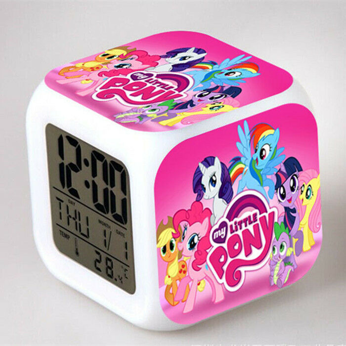 Coloring for Kids kids color changing alarm clock : Fun My Little Pony Color Changing Night Light Alarm Clock Kids Boy ...