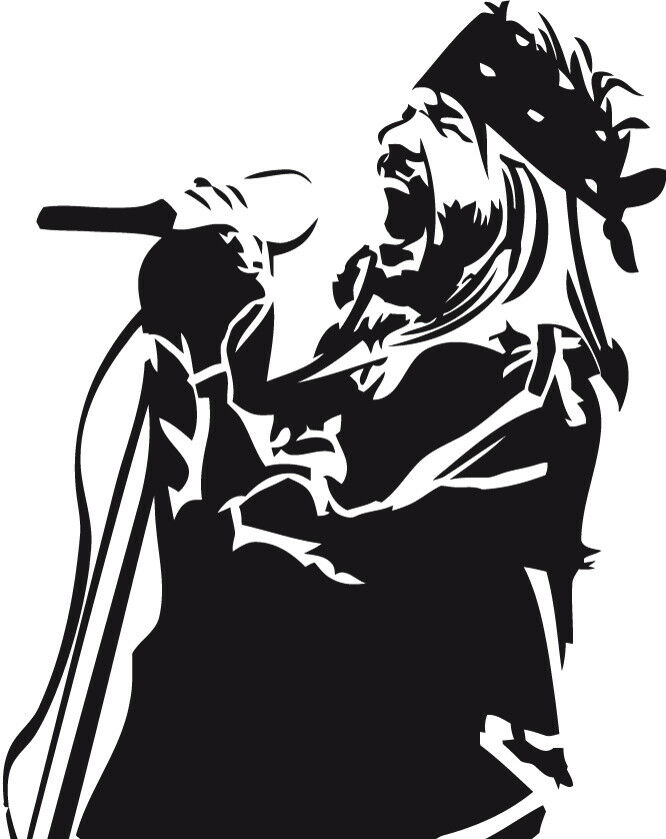 Axl Side Rose Vinyl Decal Sticker Guns N Roses Record