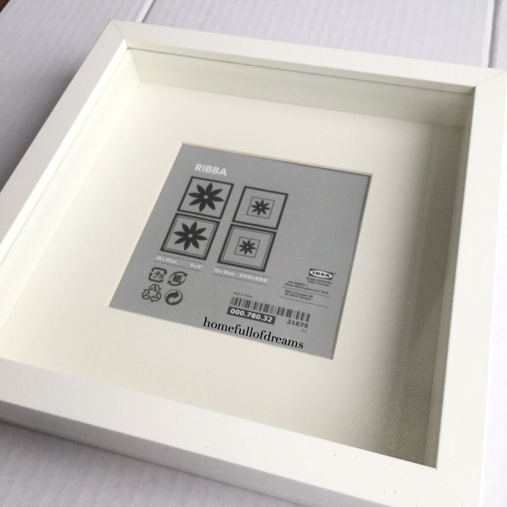 Box picture frame ebay new square deep shadow box photo picture frame white 23x23cm scrabble display 3d jeuxipadfo Gallery