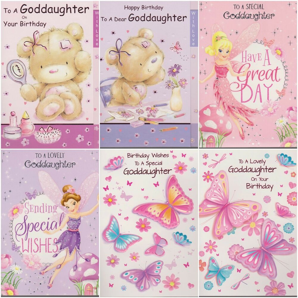 Details About Goddaughter To A Special Lovely Birthday Card