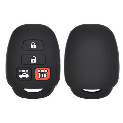 Silicone Car Key Cover Case For 2015- Toyota Camry Corolla Remote Fob Protector