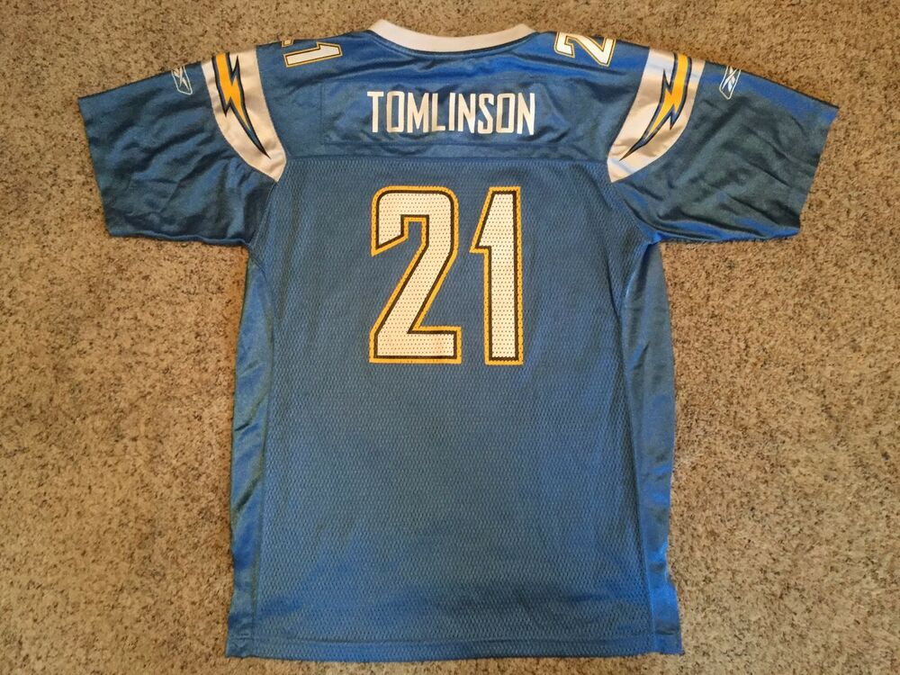 df12cb8fb Ladainian Tomlinson  21 San Diego Chargers Light Blue NFL Jersey Youth XL  18-20