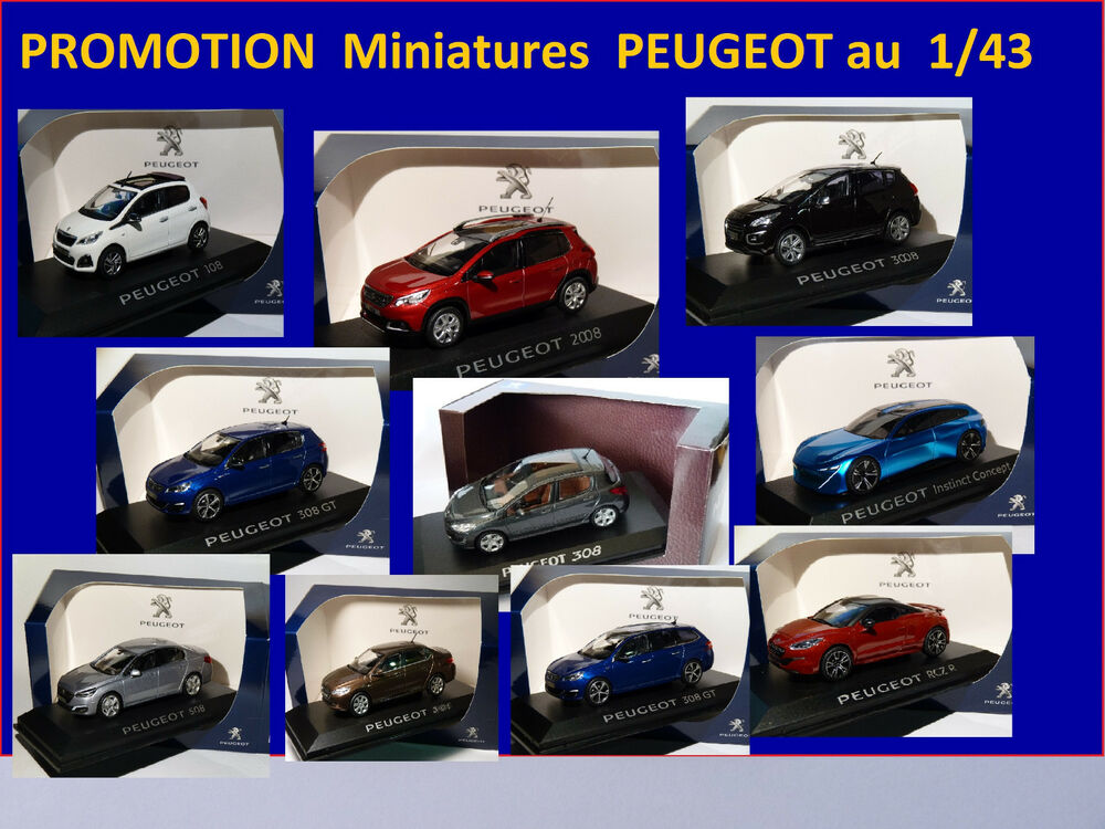 destockage miniatures peugeot au 1 43 de norev 508 3008 208 2008 5008 rcz 308 sw ebay. Black Bedroom Furniture Sets. Home Design Ideas