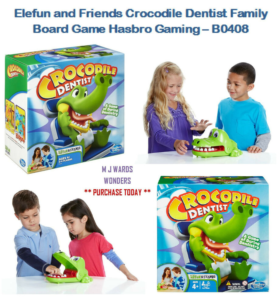 Elefun And Friends Crocodile Dentist Family Board Game Hasbro Gaming B0408 Ebay
