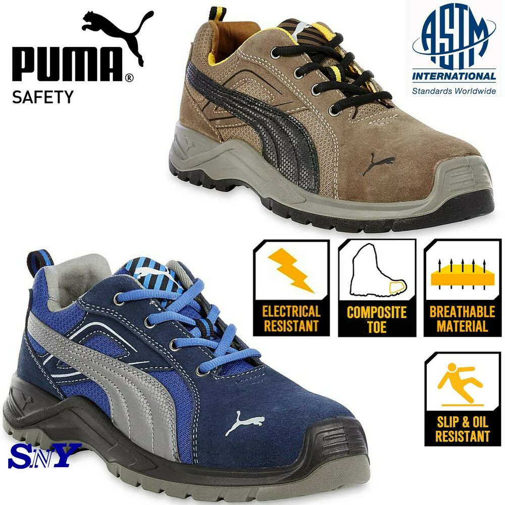 Details about Puma Safety Men s Omni Sky Composite toe suede work shoes  boots slip resistant 5f822c9df