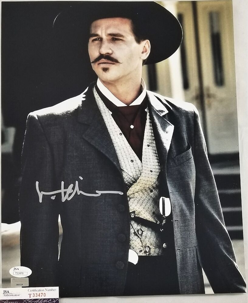 Val Kilmer Signed 11x14 Photo Doc Holliday Tombstone Jsa Coa 470