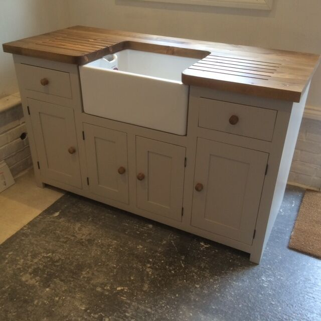 Kitchen Sink Base Unit: Kitchen Sink Unit Free Standing Solid Pine With Belfast